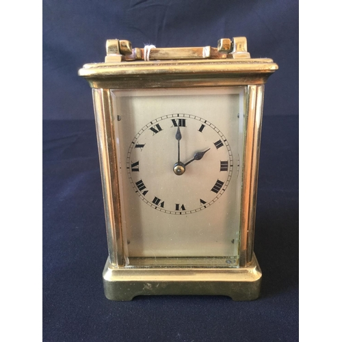 6 - 20th century brass carriage clock. Original escape platform, thought to be British....