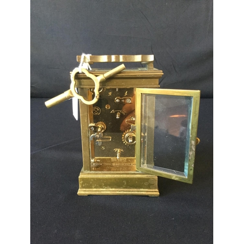 8 - L'Epee French Carriage clock. Alarm 2 barrel movement, not original platform escapement. Case in goo...