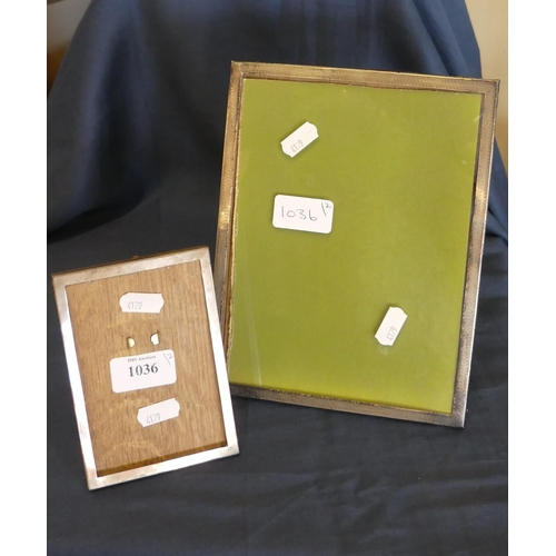 1036 - Two Silver Mounted Photo Frames.