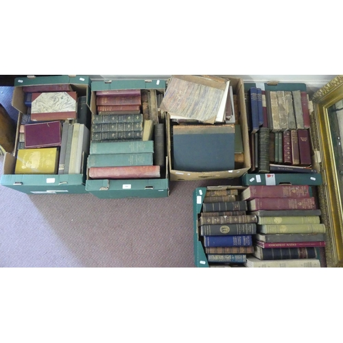 Five Boxes of Assorted Books.