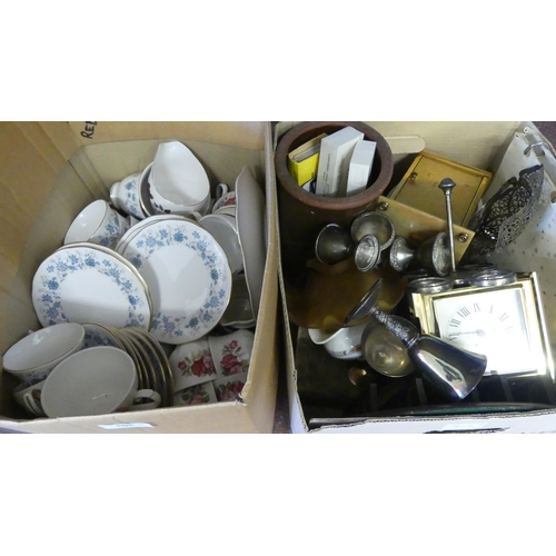 505 - Two Boxes - China, Glass & Brassware.