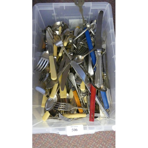 506 - Box - Silver Plated Cutlery etc.