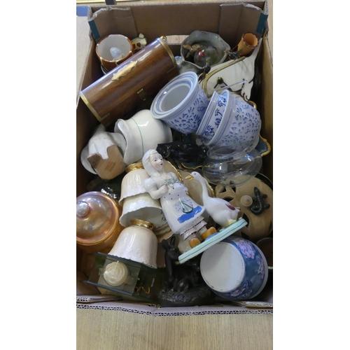 514 - Box - Assorted Pottery, China & Glass.