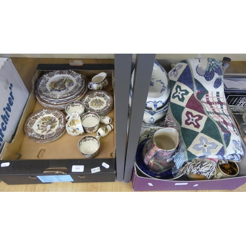 533 - Two Boxes - Assorted China.