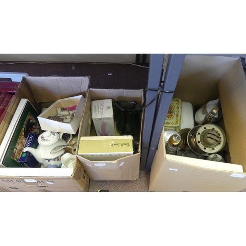 541 - Three Boxes of Mixed Pottery & Glass.