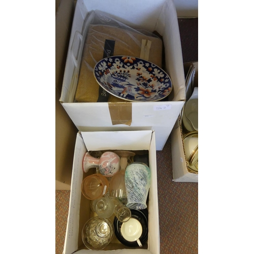 542 - Two Boxes - Glass, Pottery etc.
