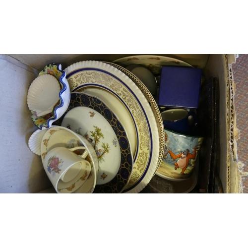 544 - Box - Assorted China & Pottery.