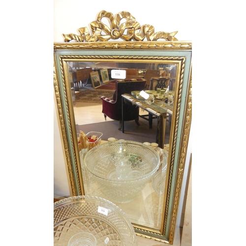 558 - Upright Gilt Framed Wall Mirror.