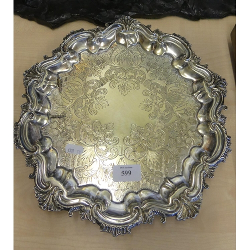Silver Plated Salver.
