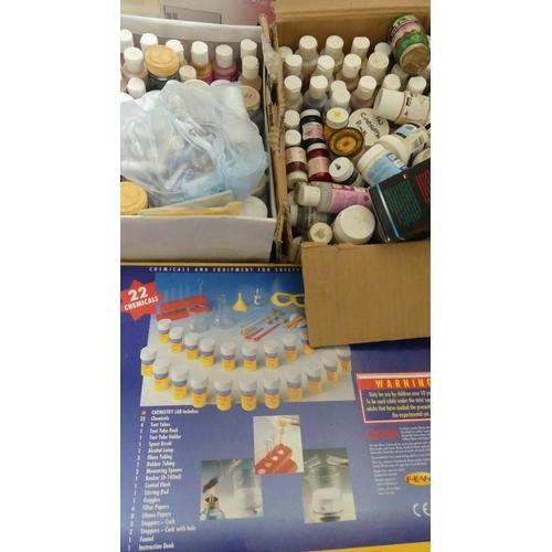 23 - Chemistry Set & 2 Boxes of Model Paint