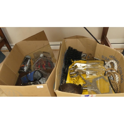 50 - 2 x Boxes of Assorted Tools
