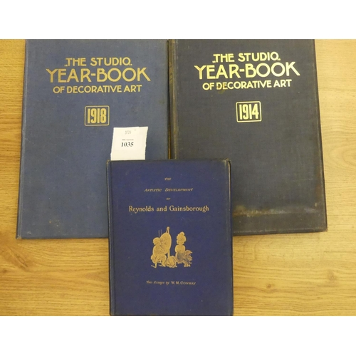 1035 - Three Books - The Studio Year Book of Decorative Art 1914, 1918 & Artistic Development of Reynolds a...