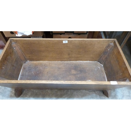 14 - An oak trough, 36' wide...