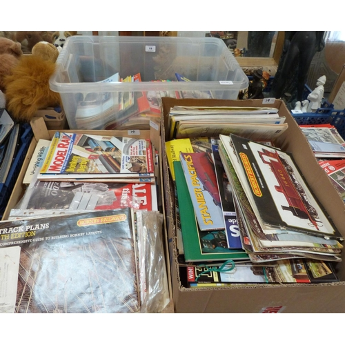 19 - A box of Historic Commercial News, and two boxes of model railway ephemera...