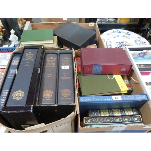 24 - A collection of books, mostly Folio Society volumes...