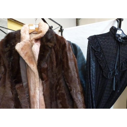 3 - Four fur coats and a leather coat...
