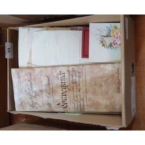 33 - A collection of postcards, photographs and other ephemera...