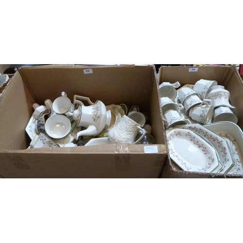 44 - A quantity of Johnsons dinner and teaware and other ceramics...