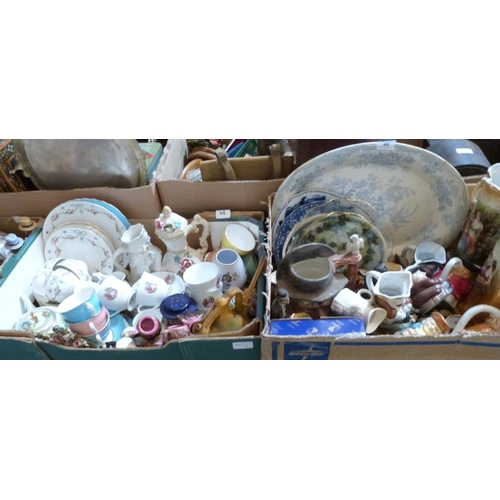 45 - Two boxes of miscellaneous ceramics...