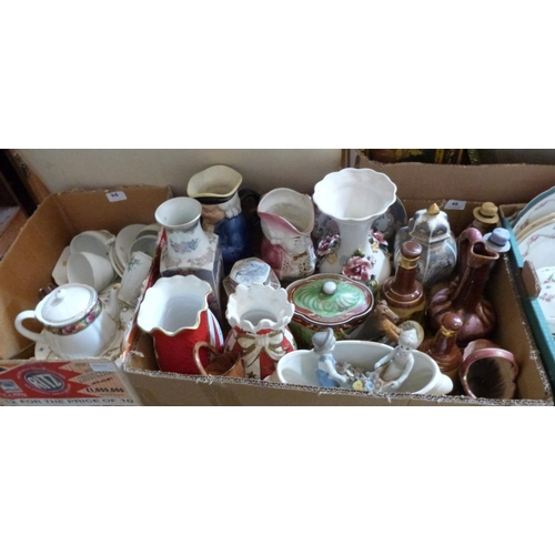 46 - Two boxes of miscellaneous ceramics...
