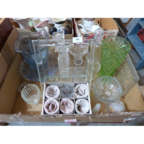 48 - A box of sundry glassware...