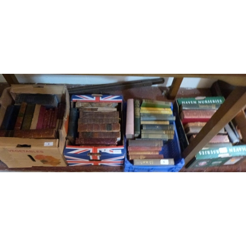 5 - Five boxes of books...