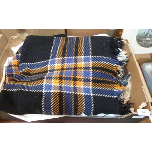 55 - Two Welsh wool blankets...