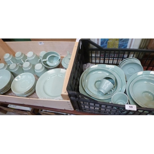 59 - A collection of Woods Beryl dinner and teaware...