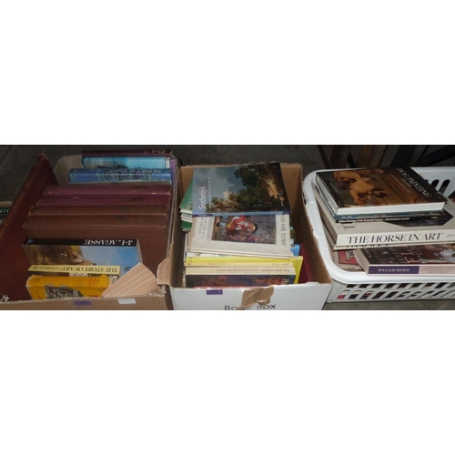 117 - A large collection of books on fine art...