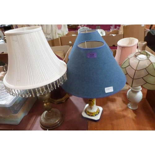 124 - Six table lamps...