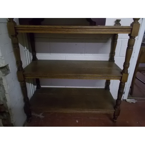 50 - Oak Bookcase Trolley...