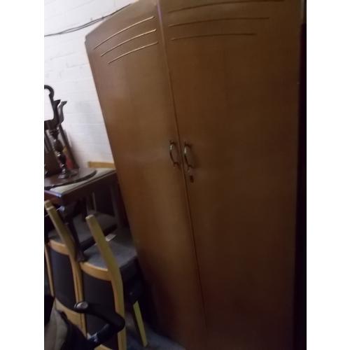 10 - Double Oak Wardrobe...