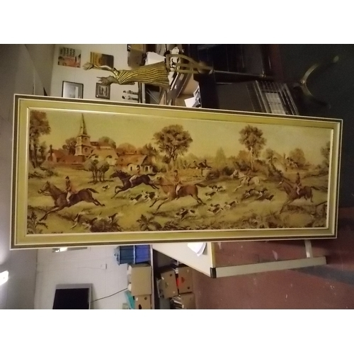 13 - Large Framed Tapestry...