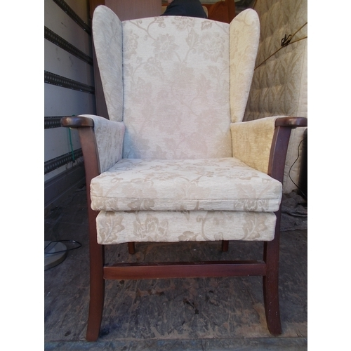 44 - Good Quality Wing Back Chair...