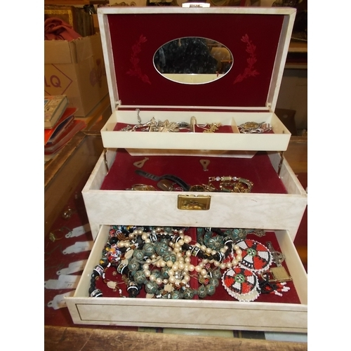 113 - Jewellrey Box and Contents...