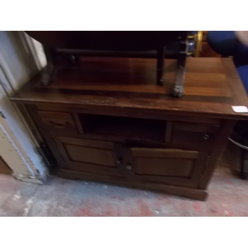 138 - Oak TV Cabinet...