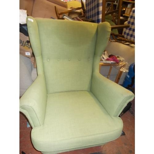 140 - Good Green Fireside Chair...