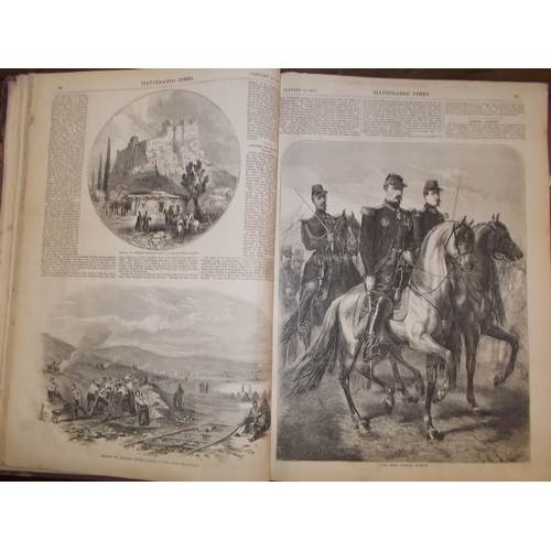 124 - 1858 Newsbook with 100 plates...
