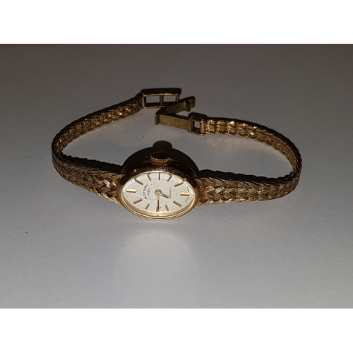 100 - 9ct Gold Rotary Watch and Strap 16.7 g...