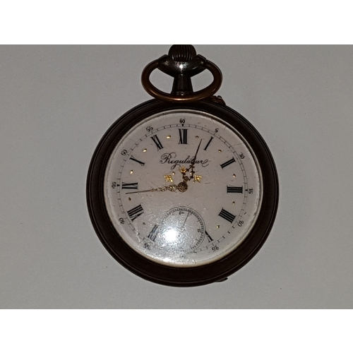 114 - Large Regulator  Pocket Watch in good working Order...