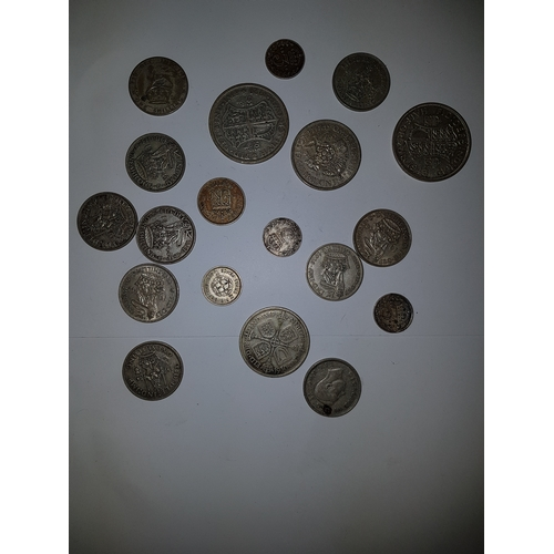 117 - Collection of pre 1947 Silver Coinage x17...
