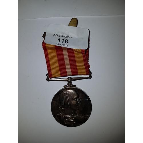 118 - Long and Efficient Silver Service Medal Miss Elizabeth Surtees...