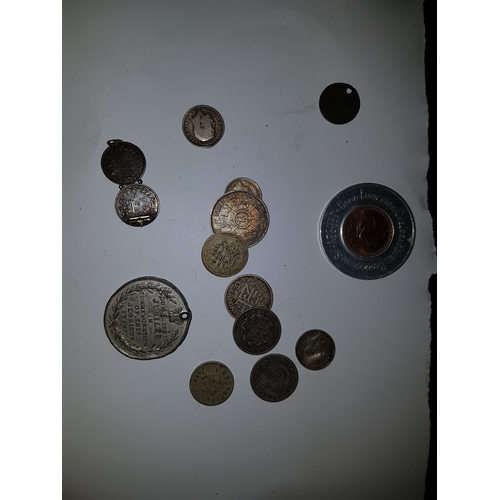 121 - Bag of Silver Coins etc...