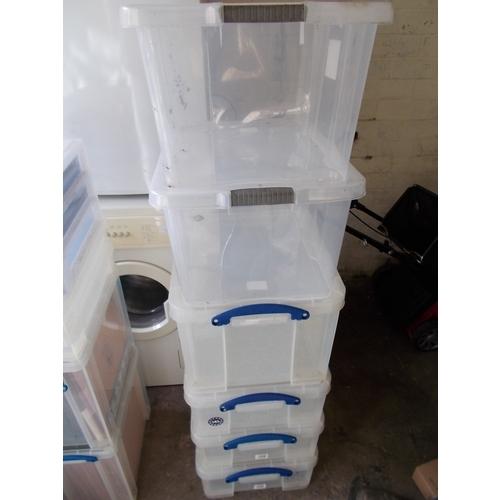 155 - 6 Variuos Storage boxes...