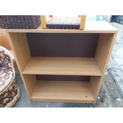 168 - Beech Effect Bookcase...