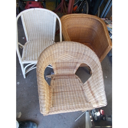 191 - 3 Wicker Chairs...