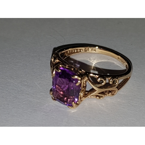 231 - 9ct Amethyst Ring...