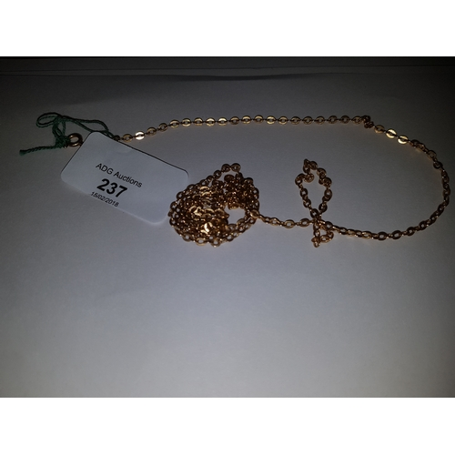 237 - 18ct 28inch Necklace...