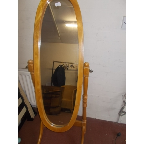 214 - Pine Cheval Mirror...