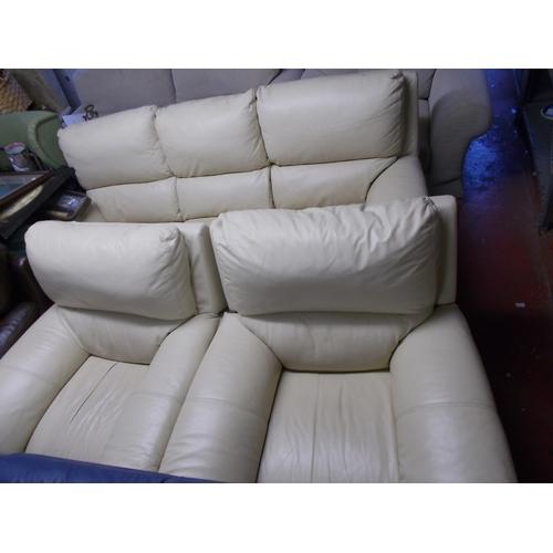 145 - Leather Cream Suite...